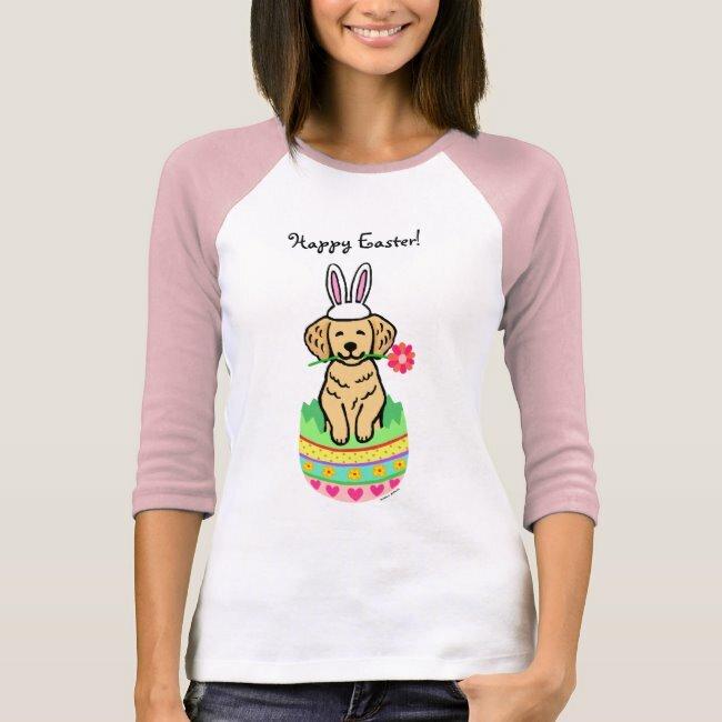 Egg Gloden Retriever Cartoon T-Shirt #retriever #cute #funny #cartoon #easter #TShirt #dog #dachshund #doxie #goldenretriever #Weimaraner #bostonterrier #jackrussellterrier #doglovers #giftideas #gifts