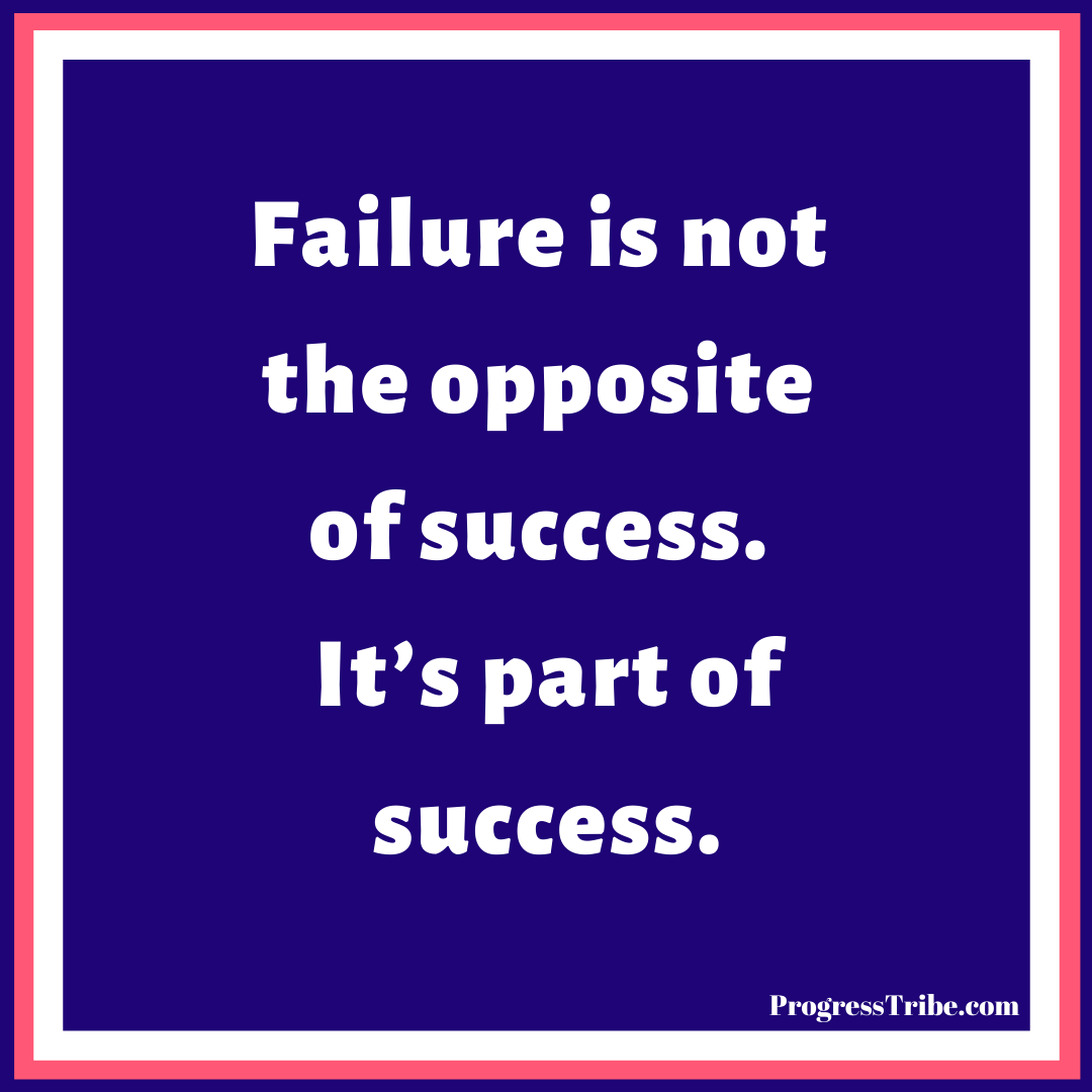 Don't let failure stop you, learn from it and move forward.  Follow us today and get your daily motivation. #ProgressTribe #motivation #outcome #dreambigger #determination #hardwork #empowerment #positivity #success #mindset #inspiration #explore #happiness #purpose #passion