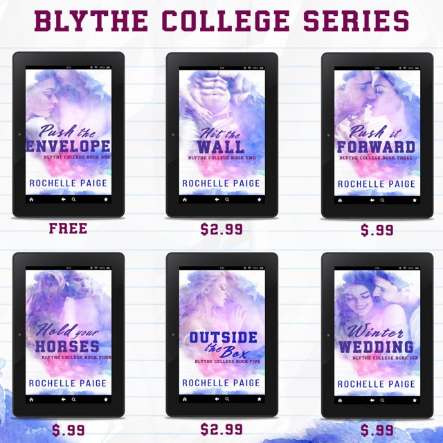 👀The BLYTHE COLLEGE SERIES by Rochelle Paige has a new look!!!!👀 #NewCovers #BookLovers