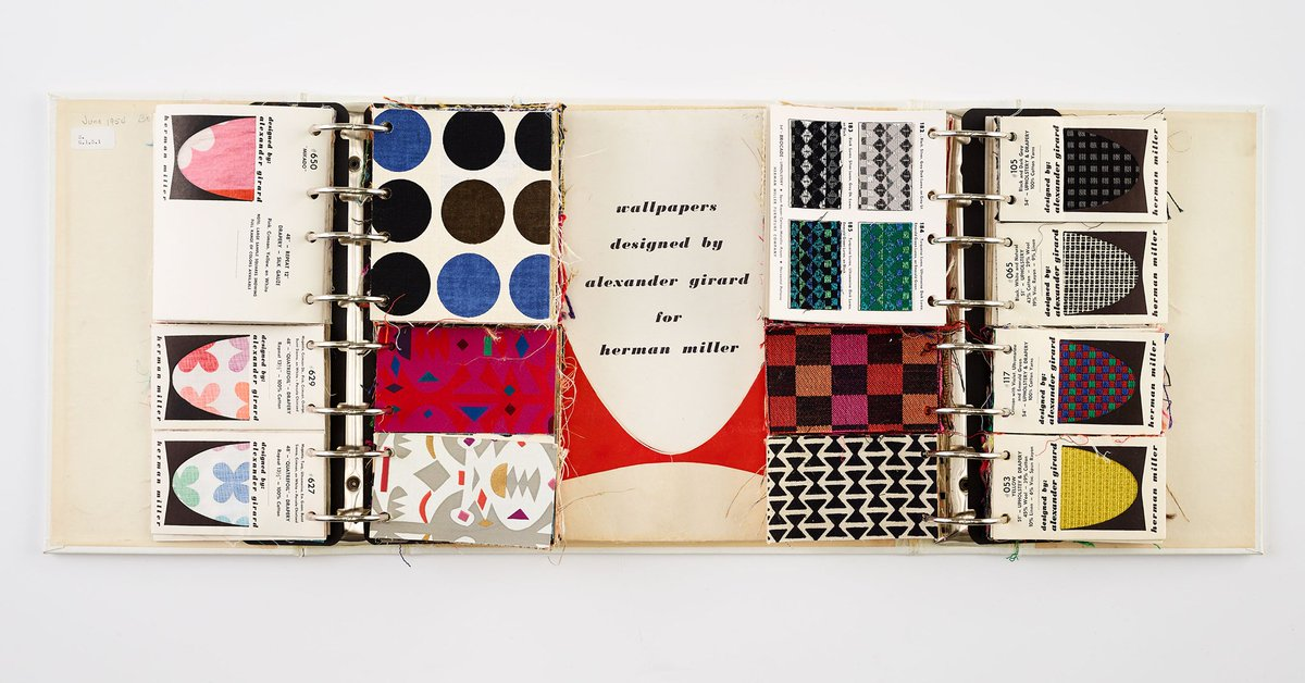 #TBT Such beautiful designs from Alexander Girard! Absolutely love this finishes binder... so classic!
