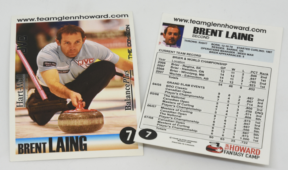 #TBT Brent Laing trading card as part of Team Glenn Howard in 2009. @blaing99