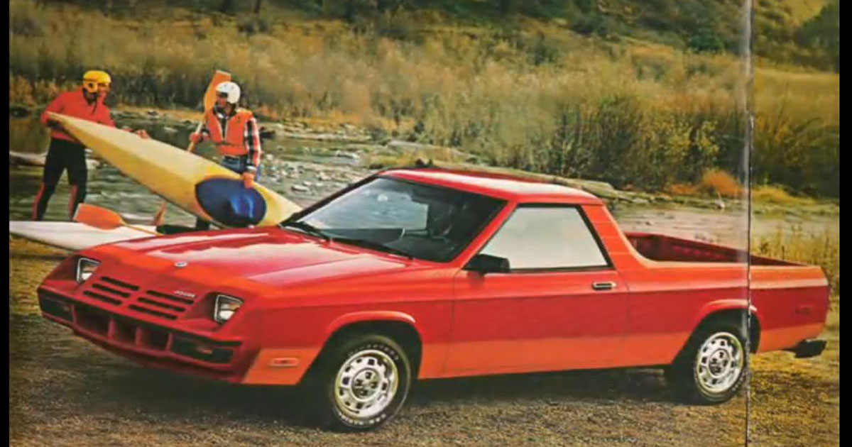 Remember this? It's the 1984 Dodge Rampage! #tbt