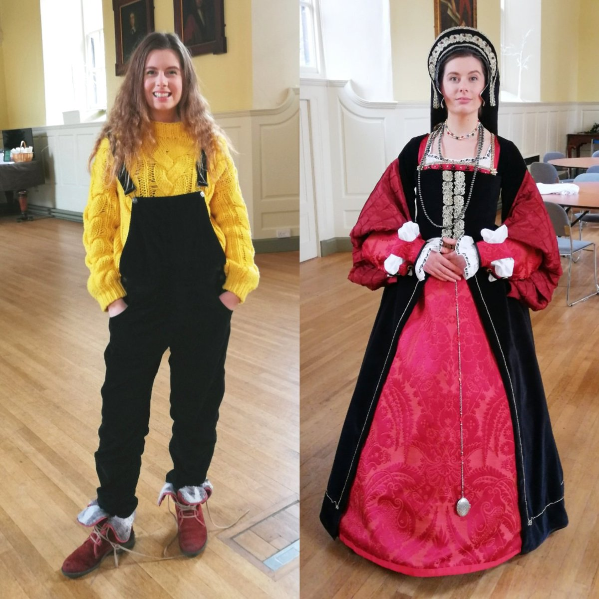 Had a fab day with @BuryStEdBeyond and the volunteers from #theguildhallburystedmunds who made the beautiful #MaryTudor #queen of France costume by hand from scratch. Exciting things to come. #transformationtuesday ..on Wednesday