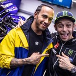 The @F1/@MotoGP crossover you've been waiting for!! 🤩🤩🤩  @LewisHamilton and @ValeYellow46 in the ultimate ride swap!!   Coming soon... 👊 #LH44VR46   @MonsterEnergy @YamahaMotoGP