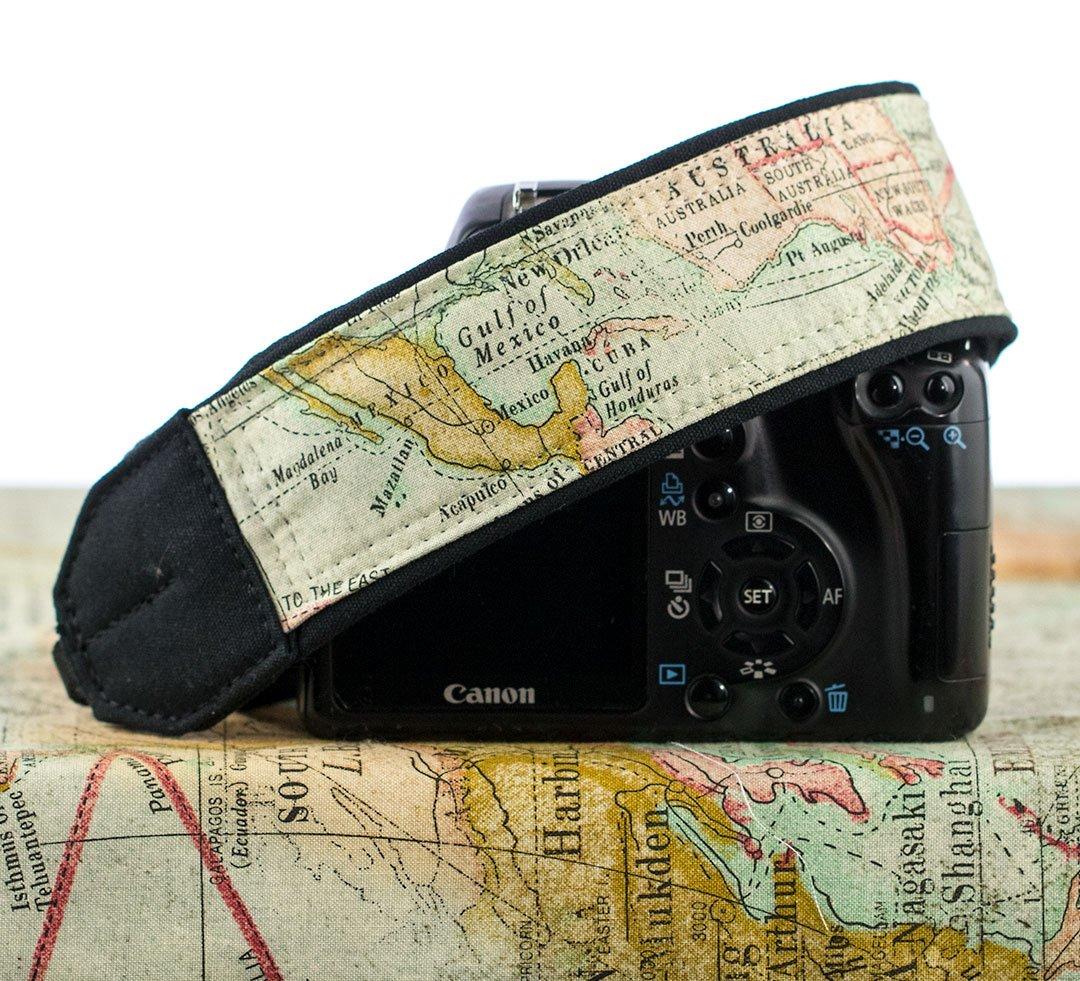 Map Camera Strap  #cameraaccessories #dslr #ten8e #photography #handmade #customcamerastrap #camerastrap