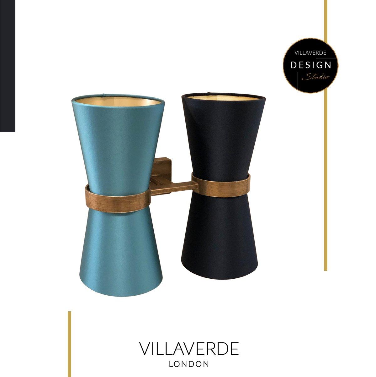 DESIGN STUDIO at VILLAVERDE - Let us design for you!  KONO WALL LIGHT designed by@claudiomarcoukfor interior worldwide!  WINTER SALE NOW ON - 20% OFF ALL NEW ORDERS   #Winter #Cold #Kono #Blue #Gold #Sale #Bespoke #Designstudio #Lighting#MadeinItaly#Handmade#Instalight