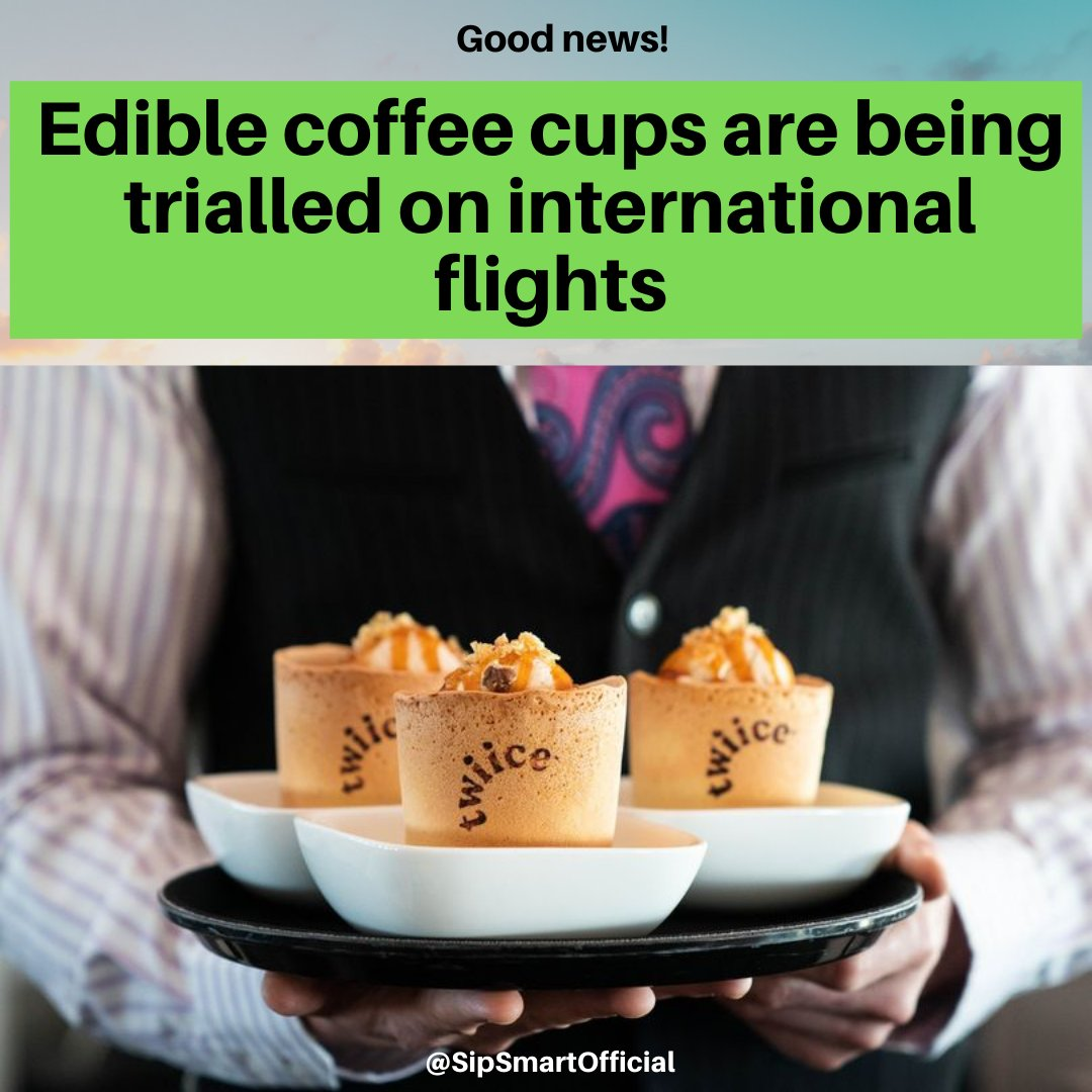 Passengers flying with Air New Zealand will be able to eat their coffee cups as part of a new eco-friendly venture from the airline.  #ecofriendly #zerowaste #sustainable #eco #sustainability #gogreen #plasticfree #handmade #saveouroceans