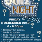 Image for the Tweet beginning: @lshsnews Quiz Night tomorrow at