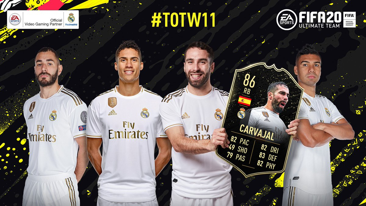 😆 That #TOTW feeling for @DaniCarvajal92! 🎮 👉 ea.com/games/fifa/fif… #FUT20 | #FIFA20 | @easportsfifa