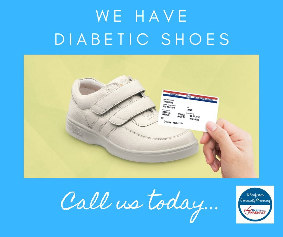 The year is almost over but there is still time to get your custom fitted diabetic shoes. Call us today for more information at 626-333-7878.  Let a loved one know if they can benefit from this.  #diabetes #diabeticshoes #medicare #customfitted #healthy #pharmacy #heidispharmacy