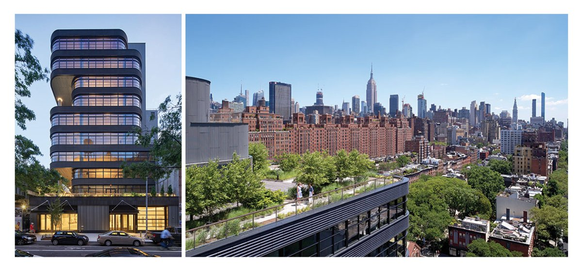 We teamed with @COOKFOXarch to deliver the #facades on 512W22 - an office space designed to provide a #healthy  modern #workplace. The building is inspired by its proximity to the High Line - having 16,000ft2 of outdoor space! More from Cookfox below.