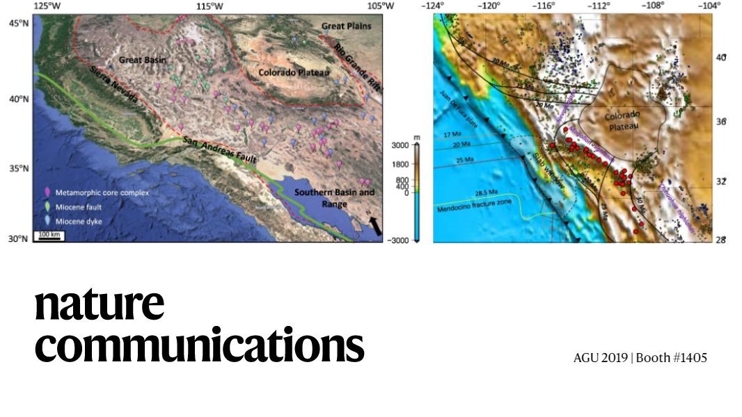 Geodynamic evolution of southwestern North America since the Late Eocene: https://go.nature.com/2OSnoQN  #AGU19 #tectonics #geodynamics