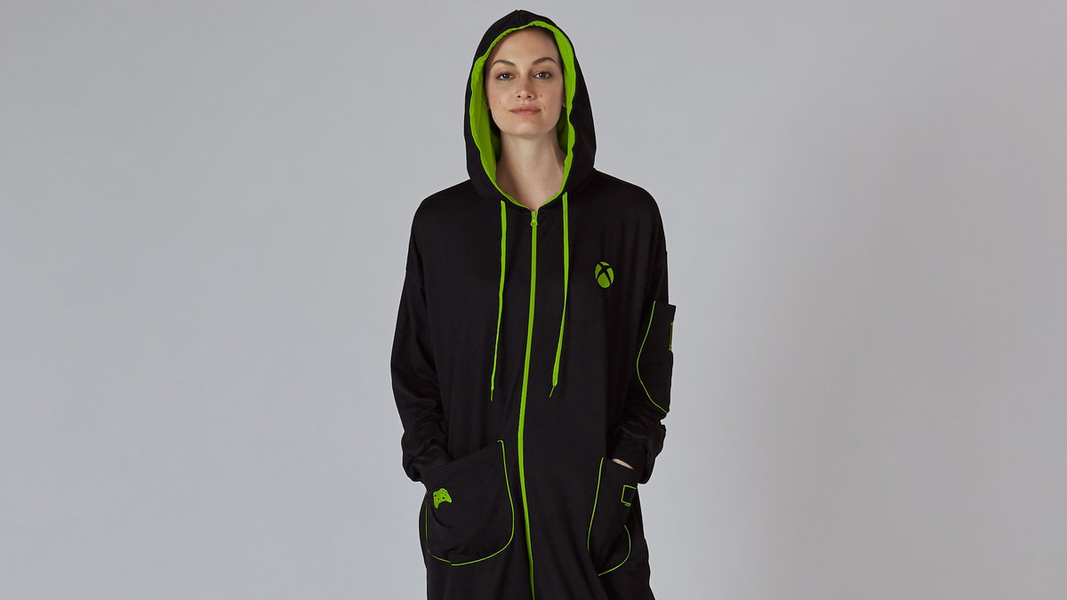 The perfect outfit doesn't exi...✅ Controller pocket✅ Remote pocket✅ Phone pocketThe Xbox Hooded Union Suit is back for a limited time: https://xbx.lv/2qq7ljN #XboxGear