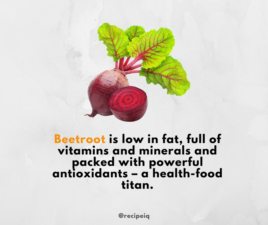 Whether you roast it whole, blend into a classic soup or drink as juice like the Olympians do, #beetroot is low in fat, full of #vitamins and #minerals and packed with powerful #antioxidants – a #health-food titan.    #veggies #vegetables #food #nutrition