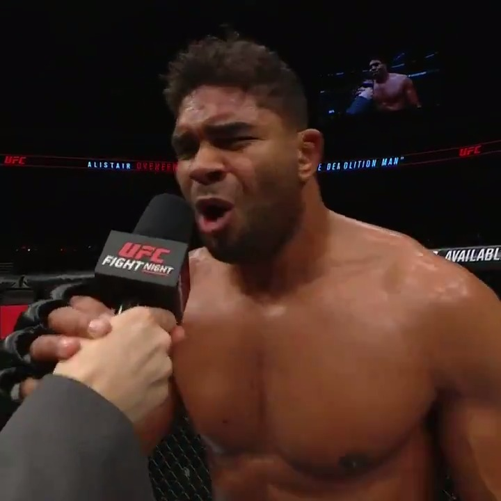 """The Reem is back 💥 BOOM""  @Alistairovereem #UFCDC"