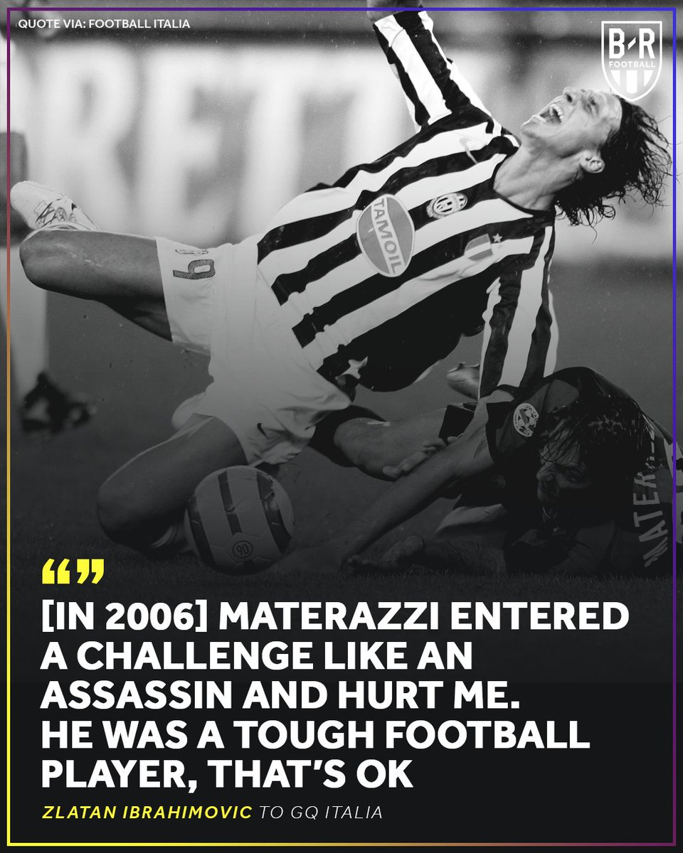Zlatan Ibrahimovic told GQ Italia that he waited four years for revenge on Marco Materazzi 👀