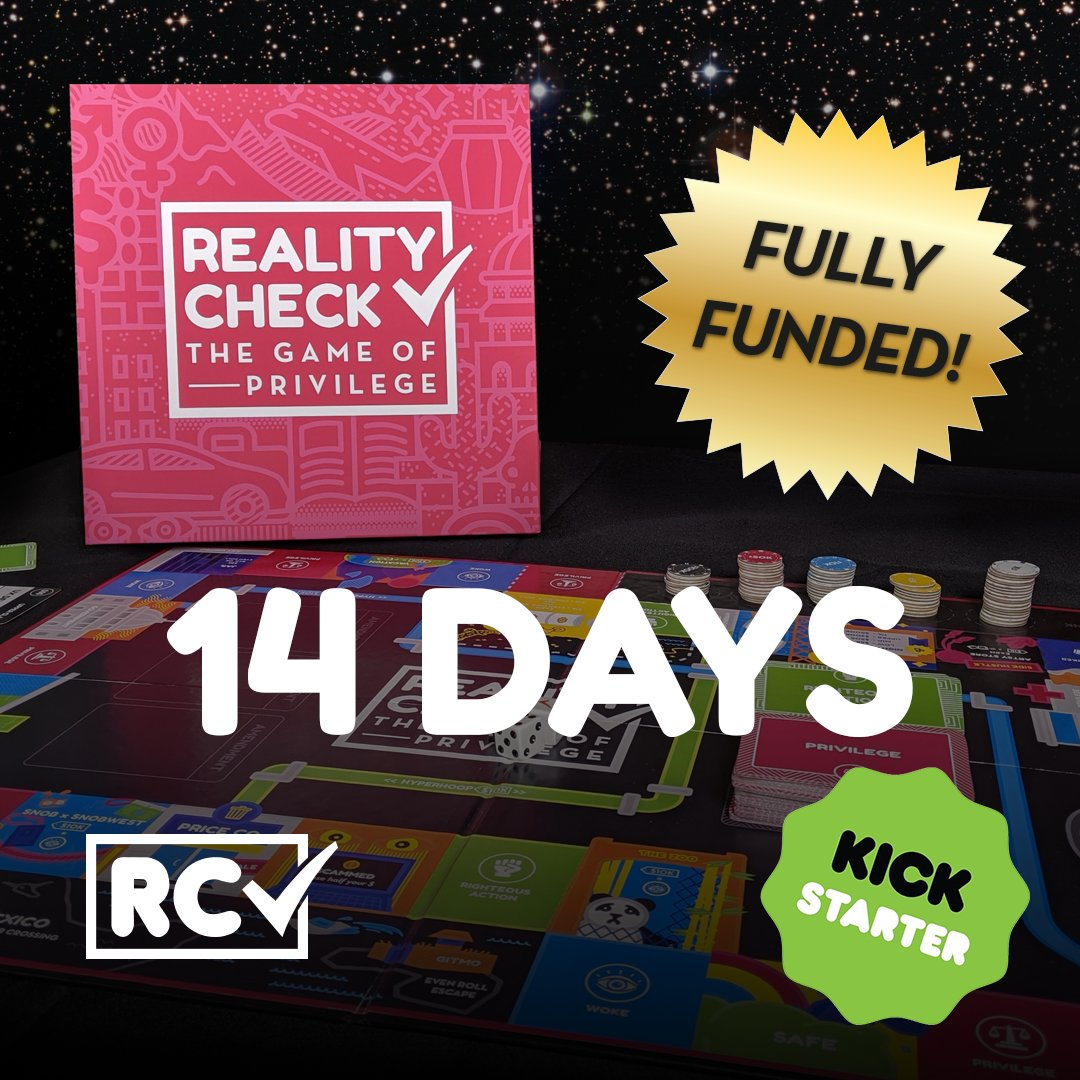 We're down to our final TWO WEEKS! Grab your copy of the only game about privilege in America at a lower than retail price!  https://t.co/FmfvXZ28AK  #kickstarter #boardgames #seriousgames #tabletopgames https://t.co/YysZJT8YX4