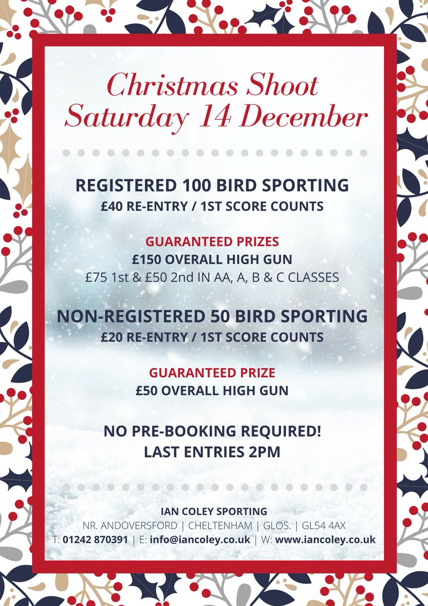 Join @ICSporting for a festive Registered 100 Sporting with guaranteed cash prizes! Find out more here bit.ly/2Osz9wR
