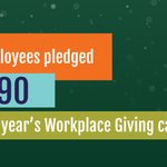 Image for the Tweet beginning: Thanks to our #workplacegiving partners