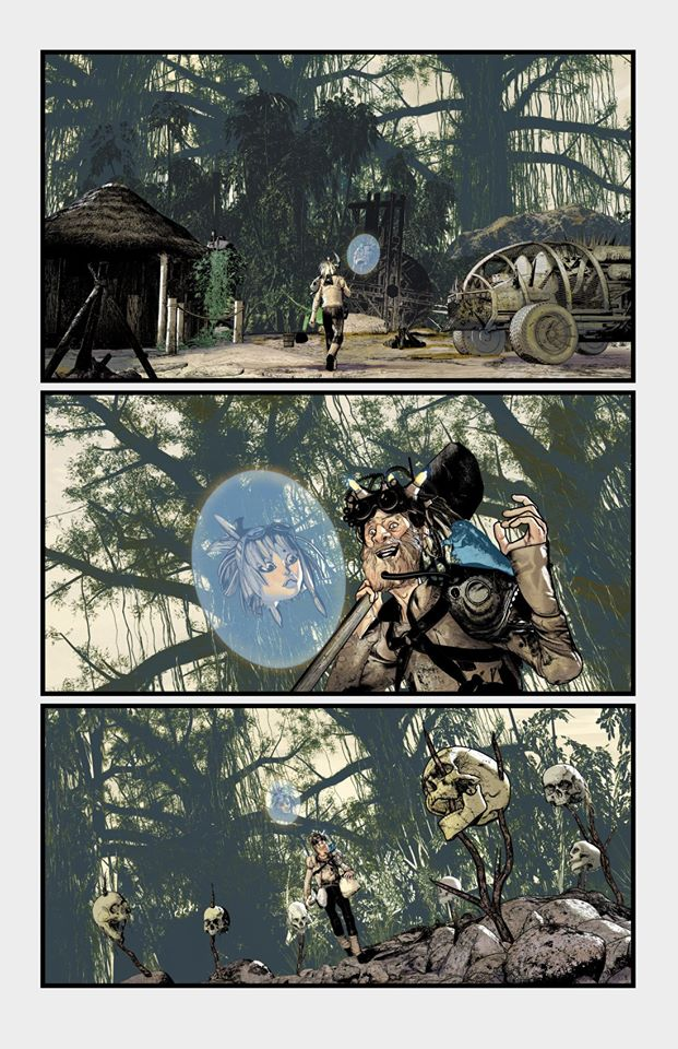 I'm a fan of quiet scenes...and with Gierrod's help these came out better than I expected. Sonata 7 NEW STORY ARC in stores Jan 8 #SONATAcomic #steampunk #comics