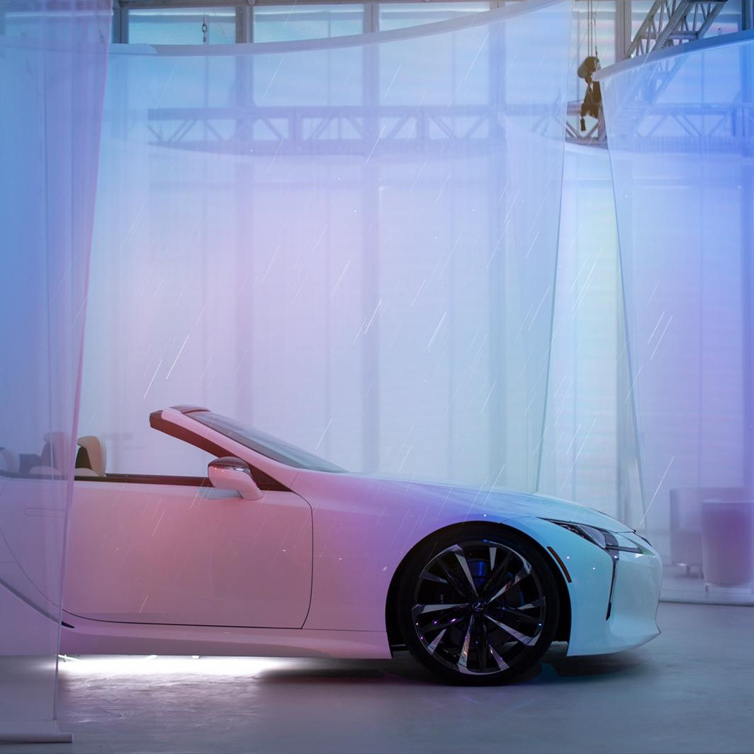 Join us as the official @DesignMiami automotive partner and experience designer @naonow's fusion of the #LexusLCC Concept as it sits under our sunshower installations. #BeyondTheRoad #LexusDesign #DesignMiami : @thismintymoment   https:// lexus.us/2RnxVFa    <br>http://pic.twitter.com/03G1r8cZ3b