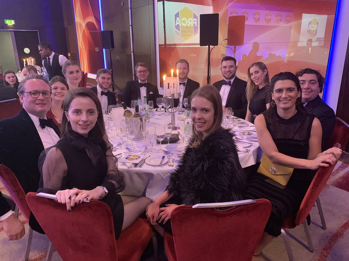 The Field Team have scrubbed up well at the #PRCAPAAwards! It's great to be up for two awards tonight! @PRCA_UK