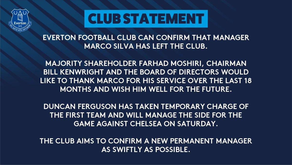 Marco Silva quitte Everton