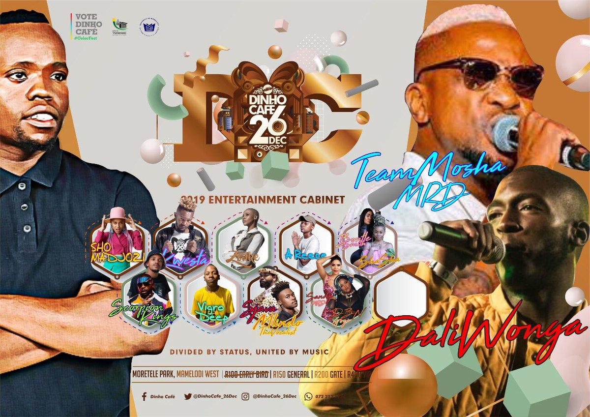 Si Sazoba Matasatasa eDinho Café No Dali Wonga & MRD! Re sa tlo senya! If uMjolo uYak'limaza Then Thata uMuntu Wakho uKhulume Naye Manje uMtshele Ukuthi Tickets Are R150 General & R400 For iVIP !#RoadToDinhoCafe#DinhoCafe26Dec#Colorfest