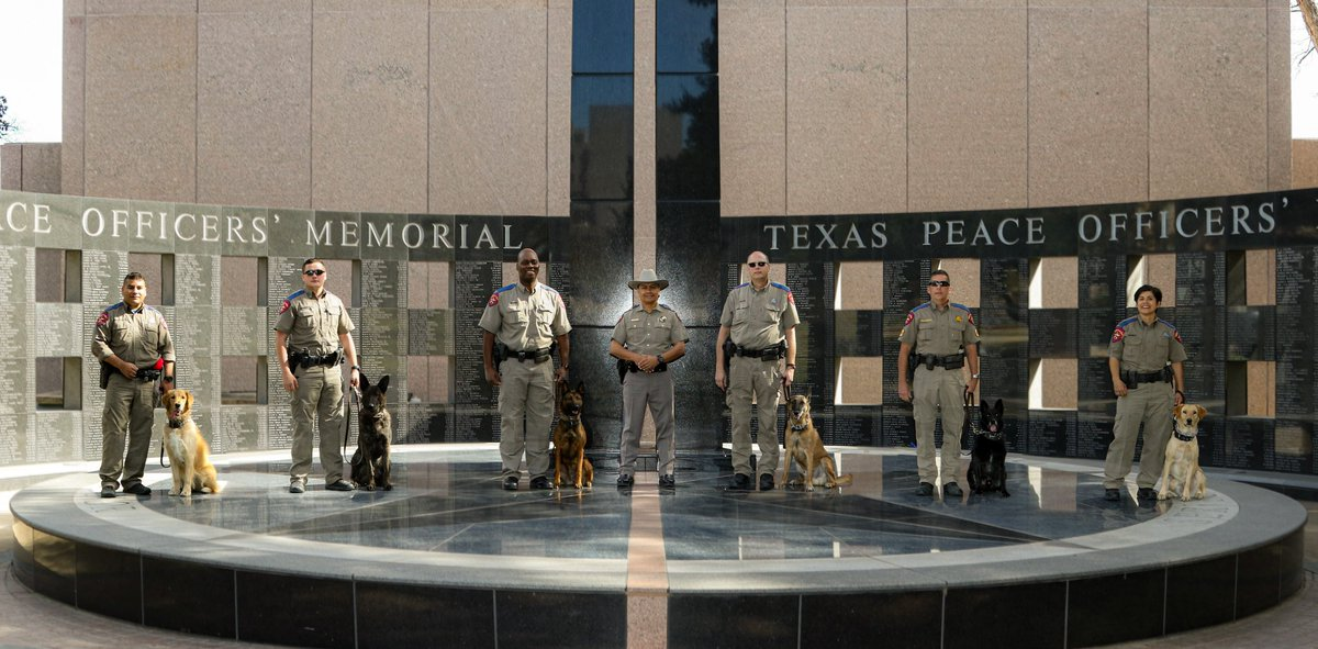 Some very good dogs. Members of @TxDPS K-9 Unit. Appreciate all of our troopers keeping Texans safe.