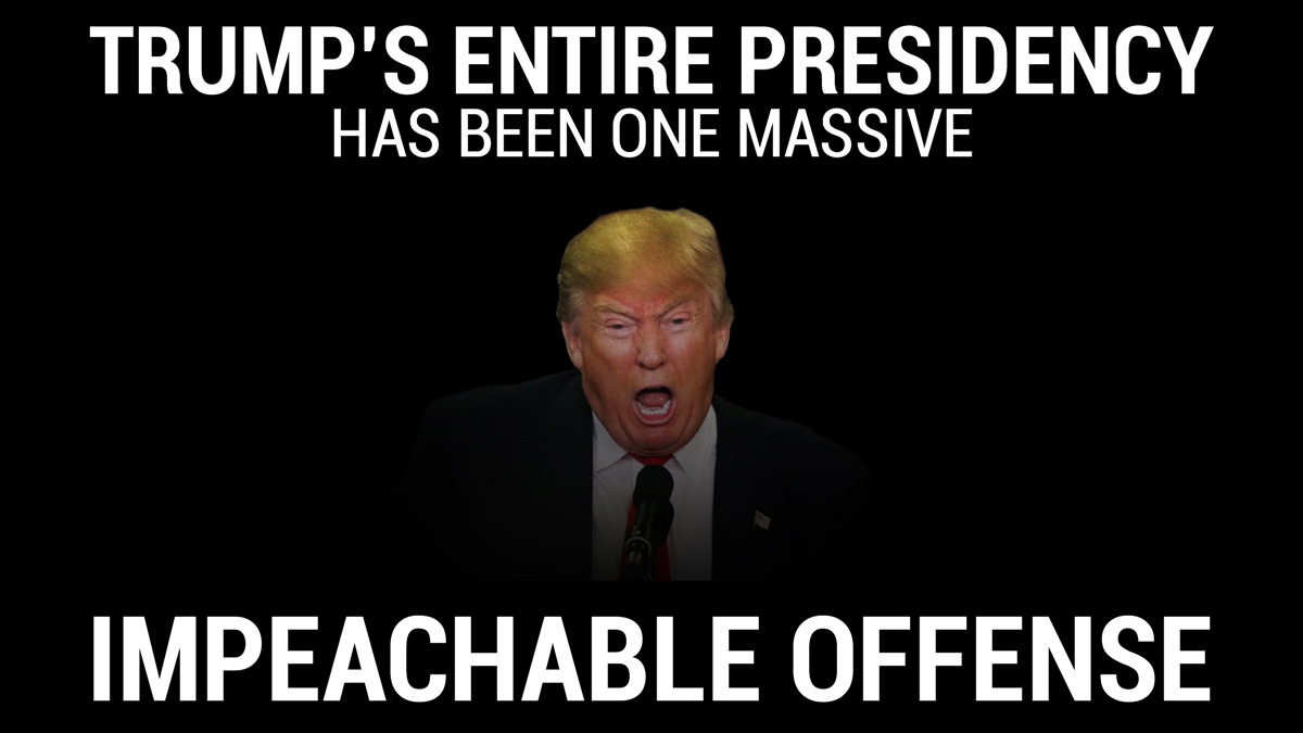 #AmericansForImpeachment It's extremely difficult to continue defending Donald tRump, when tRump's entire presidency has been an impeachable offense.