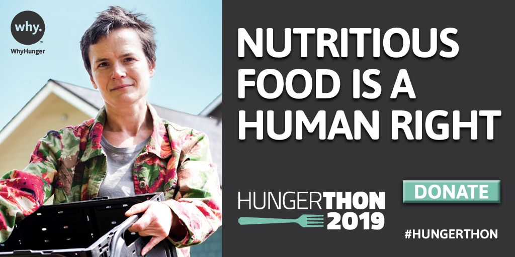 I believe nutritious food is a human right. Make a difference & donate at hungerthon.org #Hungerthon