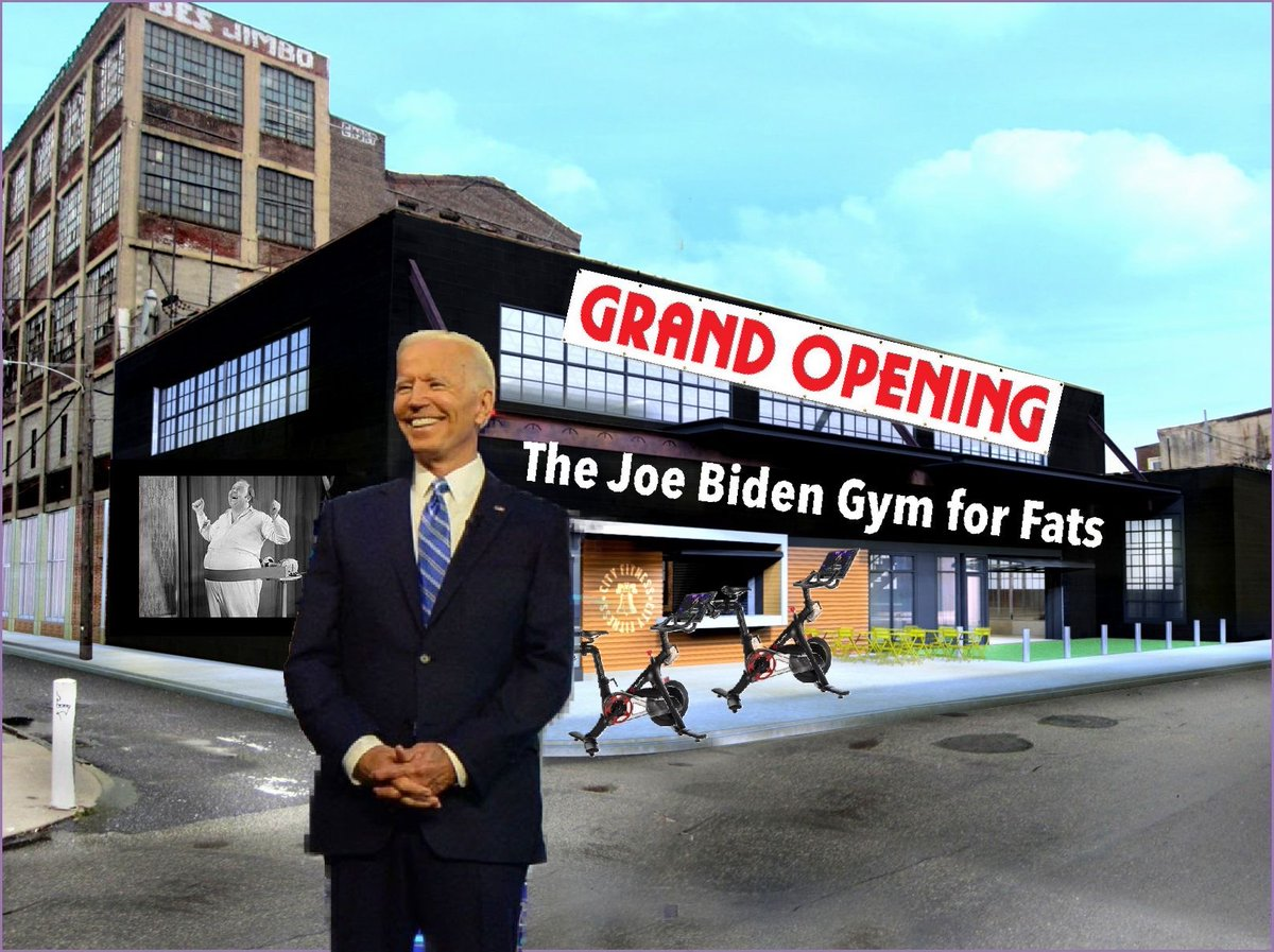 "Excited to congratulate @JoeBiden on the grand opening of his ""Joe Biden Gym for Fats"" next week!"
