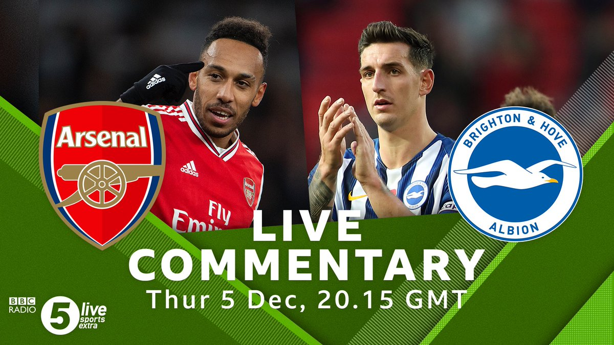 ⚽️ Kick offArsenal v Brighton🎙️@alibruceball & Matt Upson🏟️ The Emirates#⃣#ARSBHA #AFC #BHAFC Listen Live👇🎧⚽️: http://bbc.in/2qu4w1a#bbcfootball