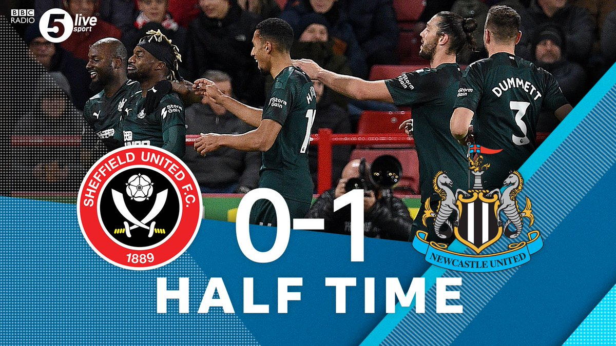 """Half TimeSheffield United 0-1 Newcastle UnitedSaints-Maximin with the only goal of the first half means that #NUFC lead at the break🎙️""""There's an awful lot to play for in the second half"""" - @Osman21LeonListen live👇🎧⚽️: http://bbc.in/33WwRdT#bbcfootball #SHUNEW"""