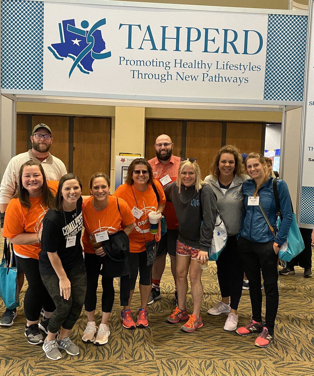 #crushingit at #tahperd2019 with my  awesome Comal PE colleagues! @ComalPhysED