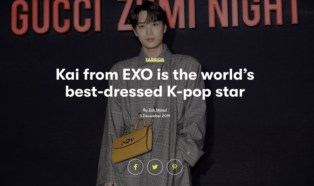 kai from exo is the world's best dressed kpop star pass it on. <br>http://pic.twitter.com/Y0ghfgcrSn
