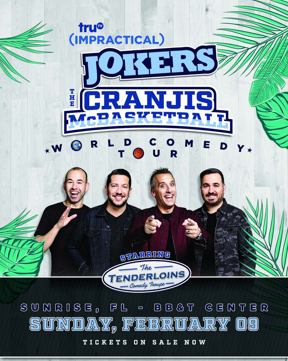 Get rid of your winter blues and join us in sunny Sunrise, FL on February 9 for our Cranjis McBasketball World Comedy Tour! 🌞🌴🌊 Tickets available now at https://smarturl.it/8t6ewq