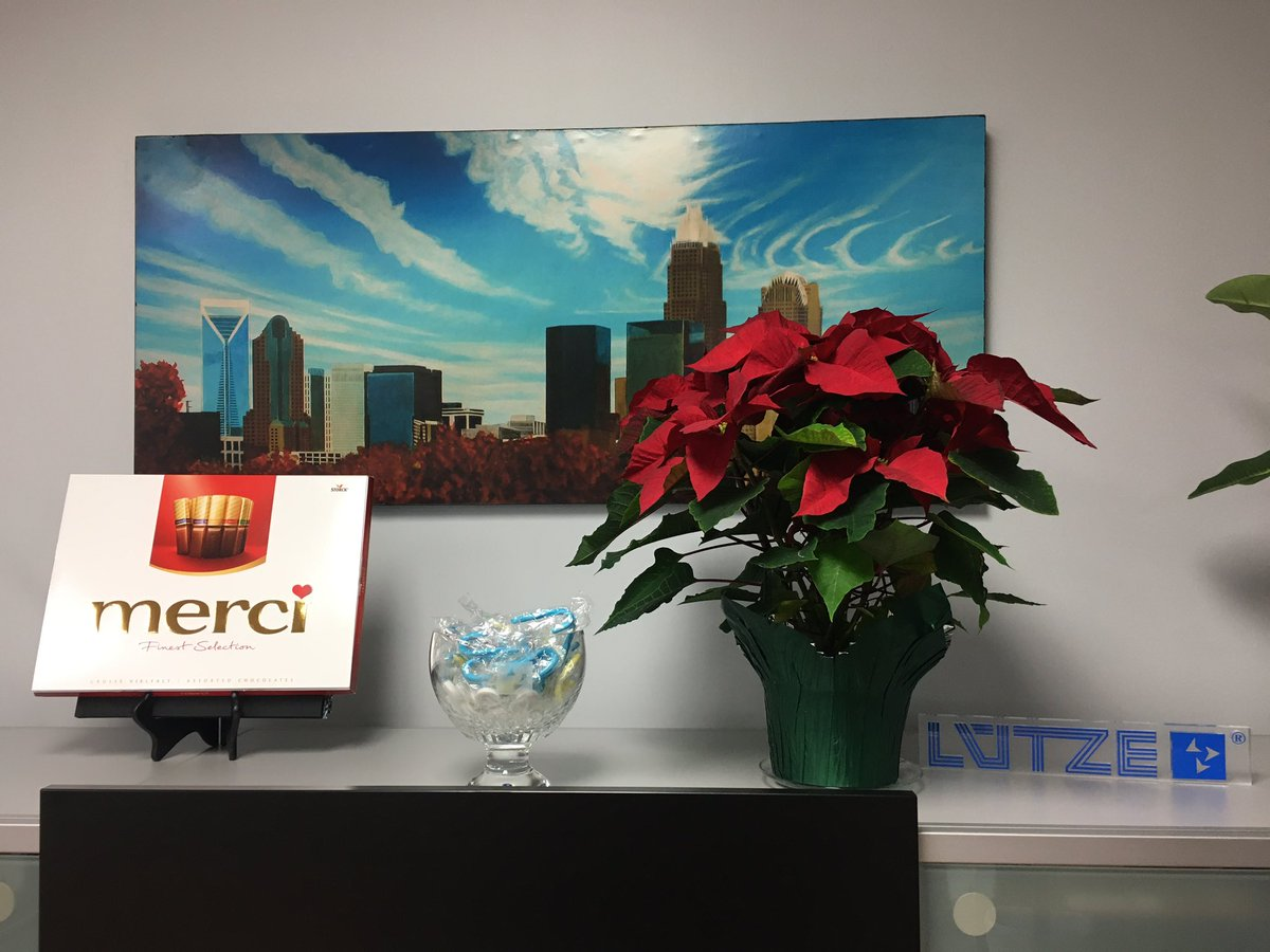 It's starting look festive here at the #LUTZE office @luetze_usa...