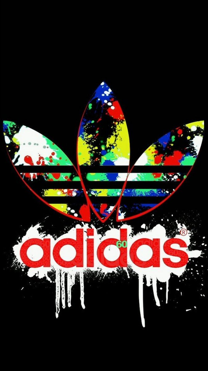 "3D IPhone Wallpaper On Twitter ""Logo Adidas IPhone X"