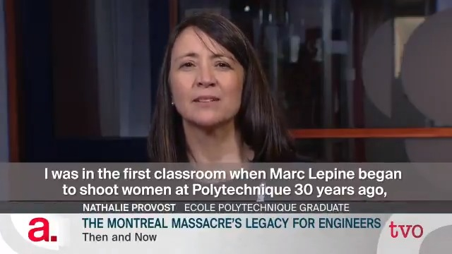 Thirty years ago 14 women were shot dead in Montreal, most aspiring engineers who never got the chance to practice their chosen profession. Tonight @spaikin talks to four female engineers about the enduring impact of that terrible tragedy.   Producer: @carastern #MontrealMassacre
