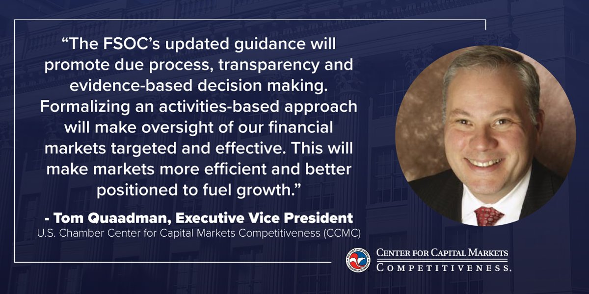 "test Twitter Media - .@USChamber @USChamberCCMC @QuaadmanT made the following statement regarding the FSOC vote finalizing guidance that reforms the process for determining whether nonbank financial firms are ""systemically important"" and should be subject to regulation by the @federalreserve https://t.co/fJD22Syqkh"