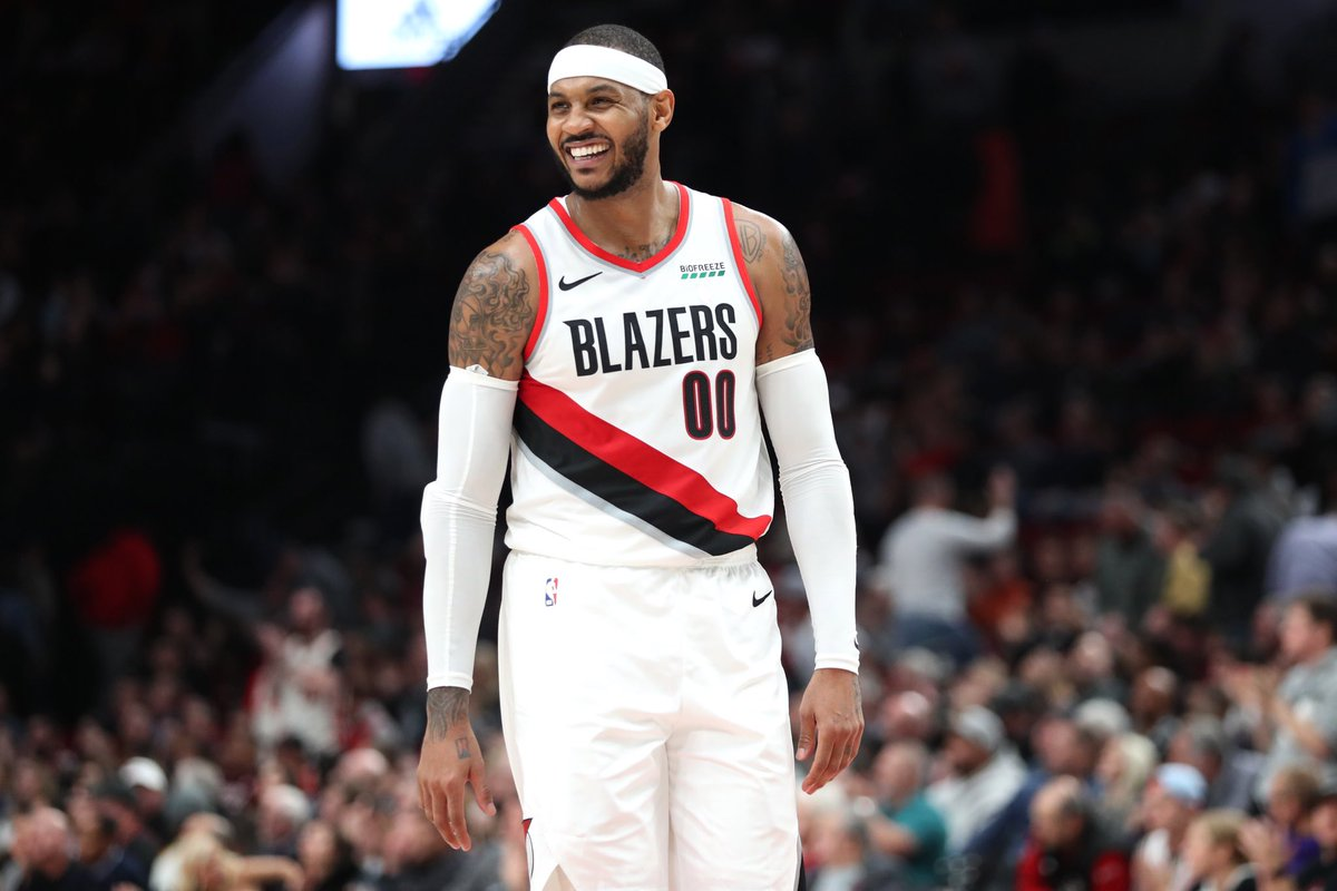 The Blazers are fully guaranteeing Melo's contract for the rest of the season, per @wojespn. LET'S GO 🙌🏽