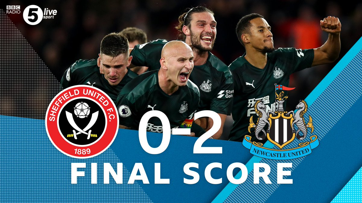 """Full TimeSheffield United 0-2 Newcastle UnitedGoals from Saints-Maximin and Shelvey mean #NUFC come away with 3 points 🎙️ """"That second goal is the most ridiculous you'll ever see"""" - @mbrowny1977 Reaction👇🎧⚽️: http://bbc.in/33WwRdT#bbcfootball #SHUNEW"""
