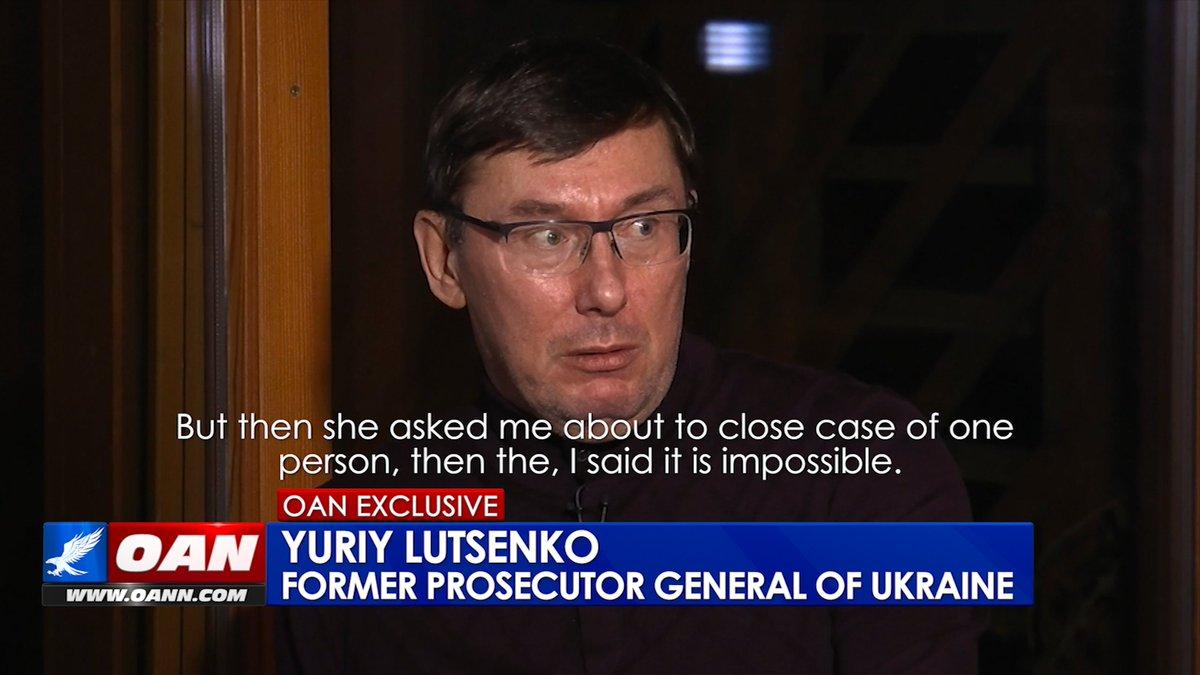 #EXCLUSIVE: OAN Correspondent @ChanelRion uncovers alleged perjury!  According to former Ukrainian Prosecutor Gen. Lutsenko, Ambassador Yovanovitch deceived the American people under oath during impeachment hearings. #OANN <br>http://pic.twitter.com/kBnwkIyeyZ