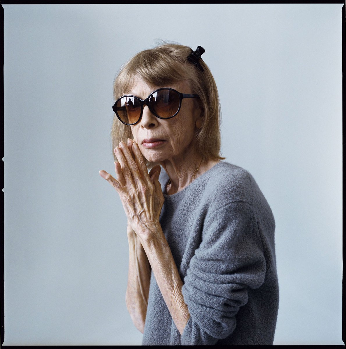 """""""We tell ourselves stories in order to live."""" Happy birthday queen #joandidion. Portrait by @BrigitteLacomb"""