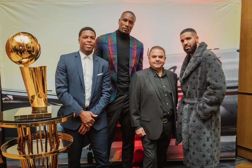 A night of Champions celebrating Champions. Our sincerest thanks to our loyal customers as well as Kyle Lowry, Serge Ibaka and Drake. #champions https://t.co/td8TW1PgHR
