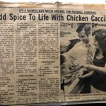 I found these old newspaper clippings about my grandfather and my grandmother. He left politics to become a chef. I never knew him as a politician, but I knew him as a chef - he was the best.