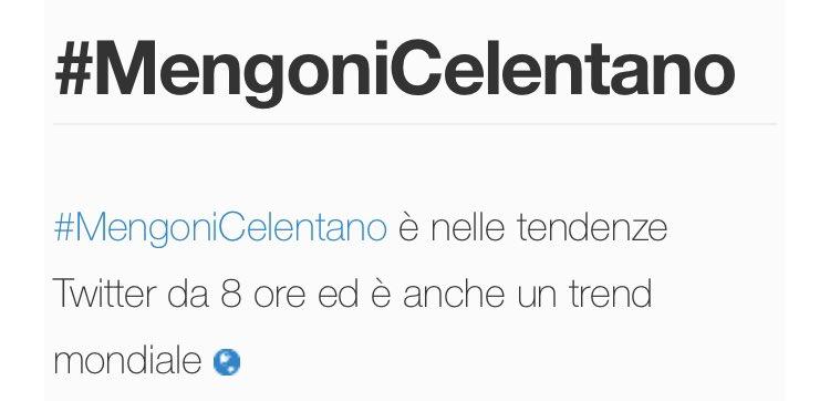 #MengoniCelentano
