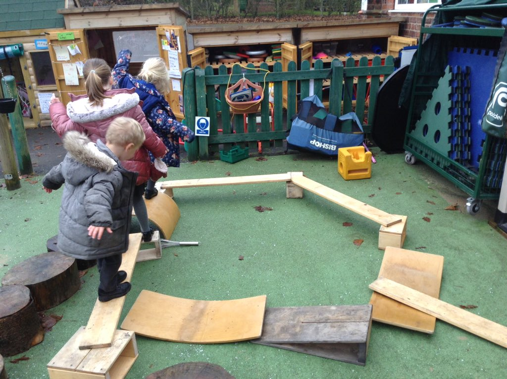 We have been travelling and balancing along our homemade obstacle course. #willowclass<br>http://pic.twitter.com/Rs7VAZSU8C
