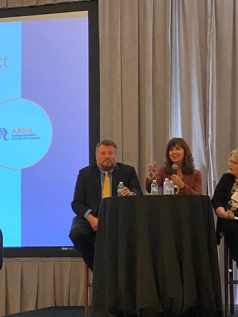 Our President/CEO, Caroline Willard, joined Texas CU Department Commisioner John Kolhoff on a panel to discuss collaboration between Associations & Regulators at today's American Association of Credit Union Leagues meeting in Florida. #AACUL #CreditUnions @AACUL_tweets